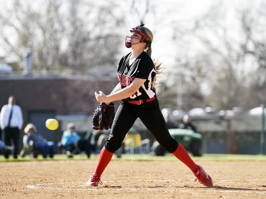 Dover's Taylor Lamparter had two dominant performances this week in the circle.