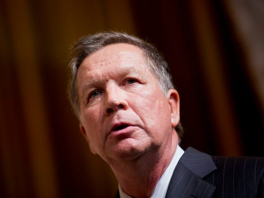 Ohio Gov. John Kasich speaks during the Road to Majority 2015 convention in Washington, Friday, June 19, 2015.