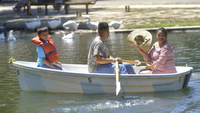Mooney Grove Park are offering boat rentals Saturday and Sunday until Labor Day.