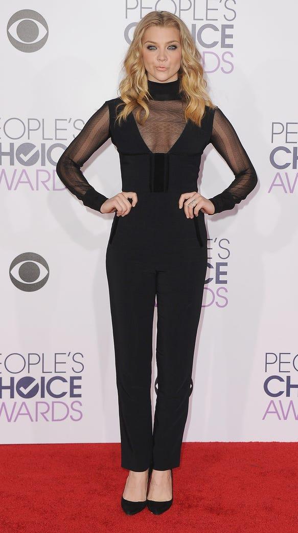 Actress Natalie Dormer arrives at People's Choice Awards