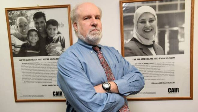 Jim Sues, executive director of the New Jersey Chapter of the Council on American-Islamic Relations, in his South Plainfield office where.