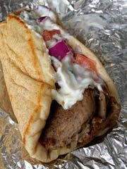 Gyros are among the specialities at Fat Zeus.
