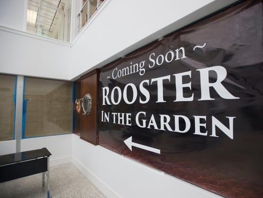 Rooster in the Garden will be one of two restaurants