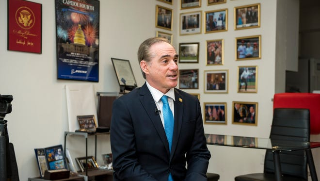 David Shulkin, recently fired from his position as Veterans Affairs secretary, talks about his time in the Trump administration at his apartment in Washington on Mar. 30, 2018.
