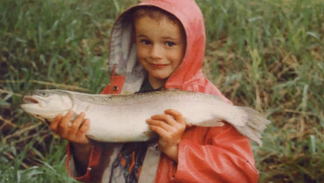 Gus Barber on a family fishing trip in 1997.