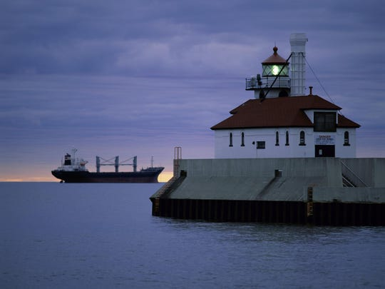 The Duluth South Breakwater Outer Light in Duluth, MN.
