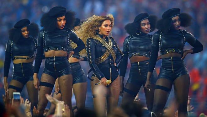 Beyoncé performs during Super Bowl 50's halftime show on Feb. 7, 2016.