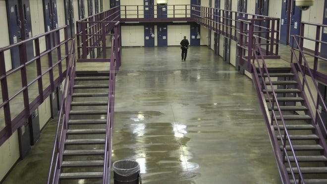 A corrections officer checks a cellblock, Nov. 13, 2007, at the North Branch Correctional Institution, Maryland's newest maximum security prison in Cumberland.