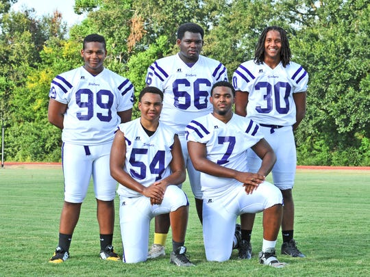 Rayne High's talented defensive front wall is manned