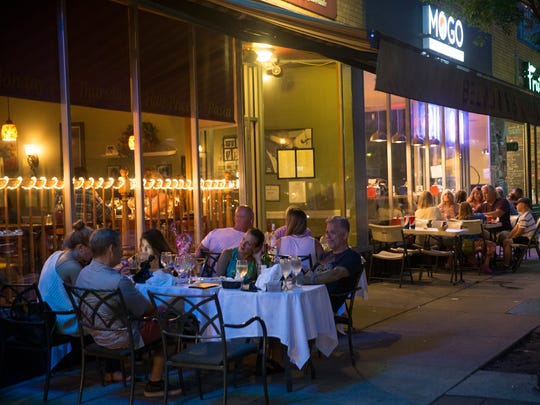 Outdoor diners in Asbury Park during much more normal times.