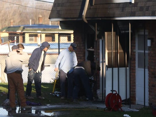An early morning fire at a Middletown apartment building on April 9 sent one woman to the hospital and caused heavy damage to the first and second floors of the building.