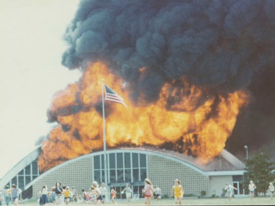 A view of the Civic Center fire.