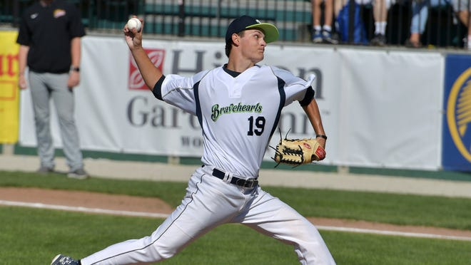 Worcester's Jakob Barker recorded his 103rd strikeout in a Bravehearts uniform, but Worcester fell to North Shore on Thursday.