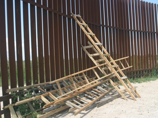 Smugglers' ladders such as these are used to help undocumented