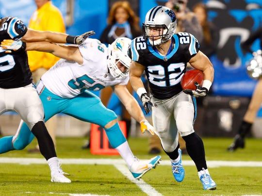 Carolina Panthers running back Christian McCaffrey