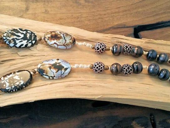 """Lori Erbes creates jewelry in a """"boho,"""" or bohemian,"""