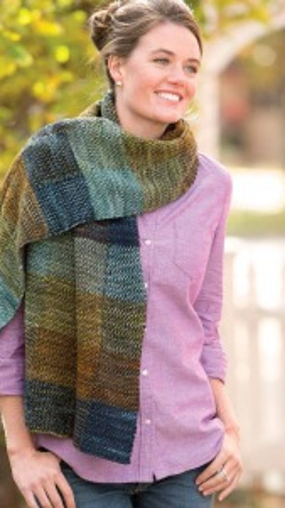 The Lake Shore wrap has an unusual texture which almost looks woven, at least to me. I love it.