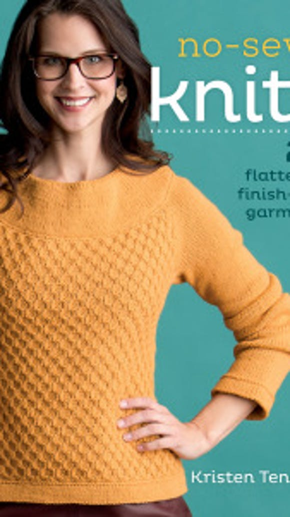 """No-Sew Knits"" by Kristen Ten Dyke is filled with sweaters you can make without having to sew seams."