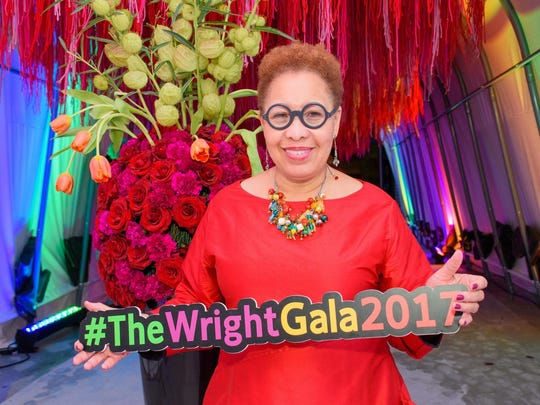 Wright museum CEO Juanita Moore with some of the event