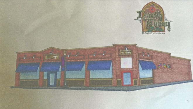 A drawing of the proposed facade of North Abbey Brewing Co. made by Jori Hoffer, daughter of owner Chad Hoffer.