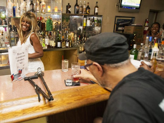 Gwen Robinson, owner of AJ's Lounge, which is relocating after 46 years, Indianapolis, Wednesday, July 29, 2015.