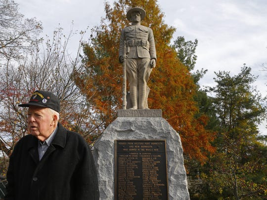 Army veteran Robert Latsch is trying to spruce up a deteriorating World War I monument in the Belford section of Middletown.