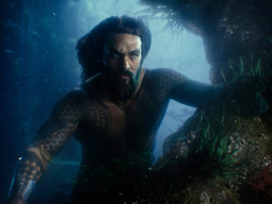 "Aquaman (Jason Momoa) first appeared in 'Justice League"" but is now swimming into his own solo adventure."