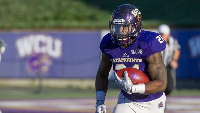 Western Carolina running back Detrez Newsome set the program's single-game rushing record with 277 yards against Chattanooga on Oct. 29.