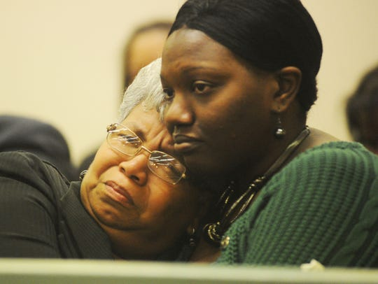 Kathryn Mason (left), mother of the late Nielsa Mason,