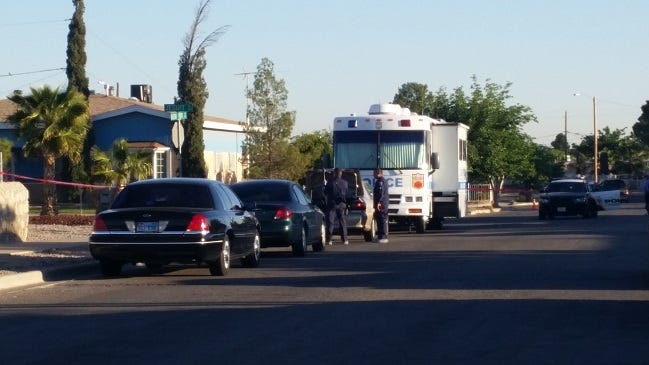 El Paso police investigate an officer-involved shooting at a home in the 300 block of Jesuit Drive in the Lower Valley in 2015. Erik Emmanuel Salas Sanchez was fatally shot by a police officer, who has been indicted in the case.