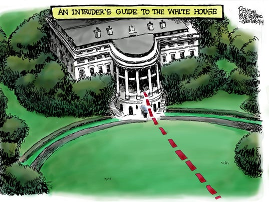 White house map for intruders