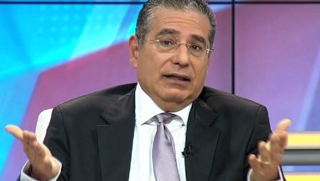 Ramon Fonseca, one of the founders of Panama's Mossack Fonseca law firm, speaking on Telemetro TV in Panama City, on April 4, 2016.