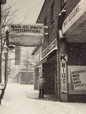 A January 1988 storm produced a record setting snowfall in South Carolina. Shown here is Main Street in Greenville on Jan. 7, 1988.