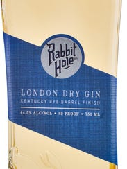 Rabbit Hole Distilling's London Dry Gin, which is finished