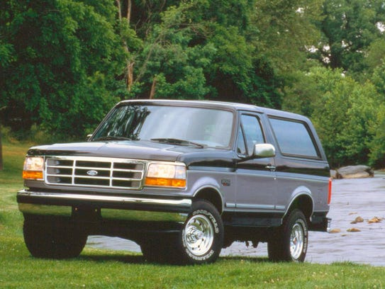 Pictured here is a 1995 Ford Bronco.