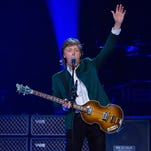 Paul McCartney performs at Joe Louis Arena on Oct. 21, 2015, in Detroit.