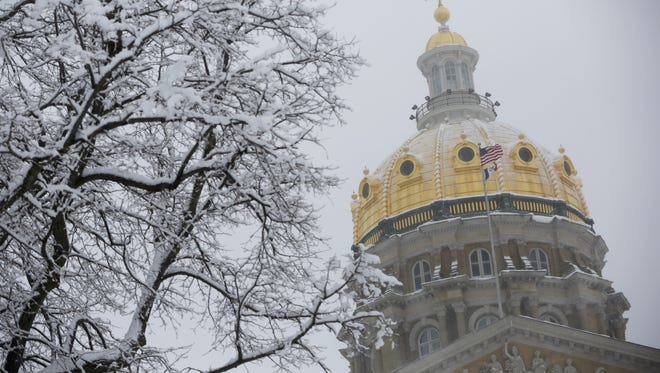 The Iowa Capitol dome in Des Moines.