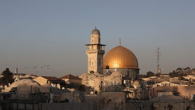 A picture shows on Oct. 14, 2016 the Dome of the Rock, in the compound known to Muslims as al-Haram al-Sharif (Noble Sanctuary) and to Jews as Temple Mount, in Jerusalem's old city.