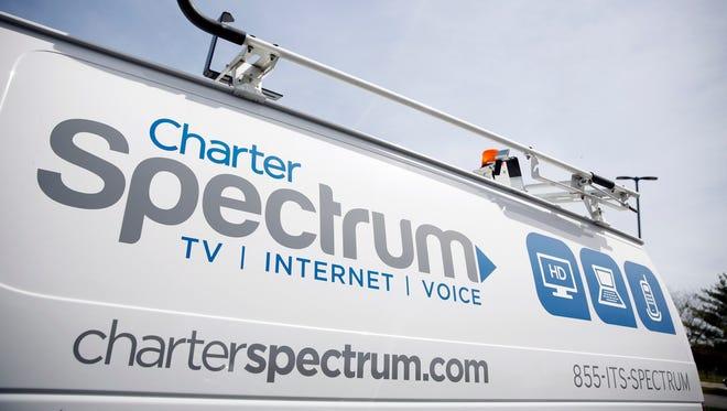 A Charter Communications van.