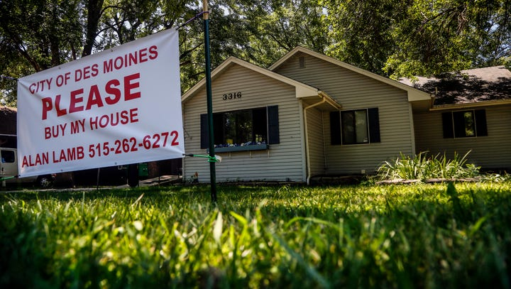 Des Moines will spend $11.5 million to buy 80 flood-damaged homes