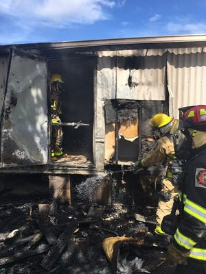 Brevard County Fire Rescue put out a blaze at a mobile home in central Brevard Thursday.