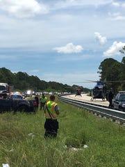 Four people were injured after a crash on SR528 July