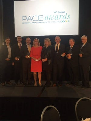 The Greater Pensacola Chamber announced the eight winners of the 58th annual PACE Award recipients during a ceremony Wednesday, Feb. 21, 2018, at the Hilton Pensacola Beach Gulf Front.
