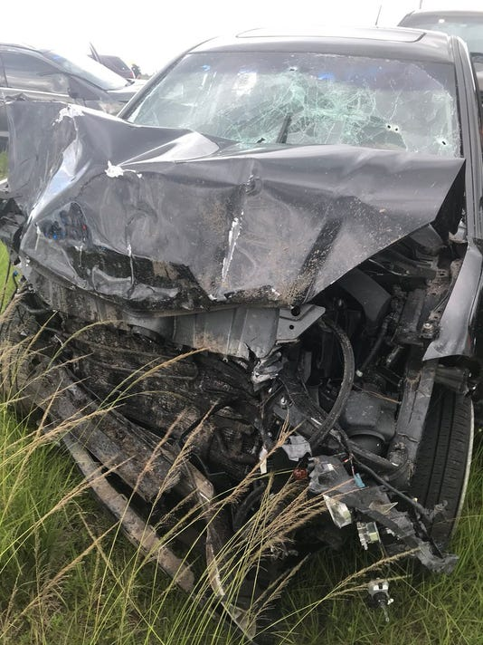 A car chase ended in Martin County with a deputy airlifted to a local hospital, Martin County Sheriff's office officials said.