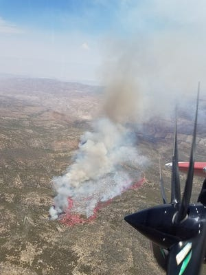 The Ribbon Fire near Pinyon is 100 acres and 0% contained. As of Thursday afternoon, no evacuation orders had been issued.