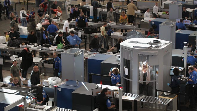 A Transportation Security Administration checkpoint in Denver.
