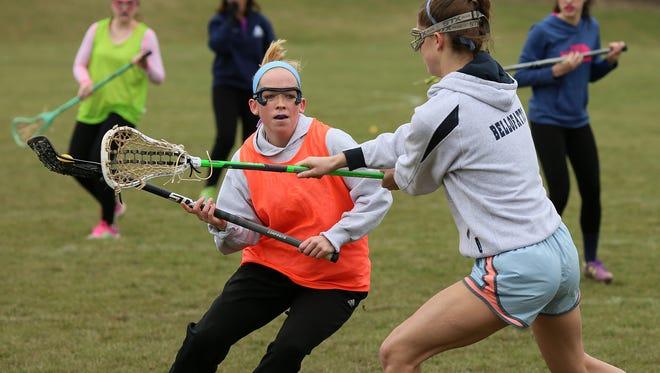 Granville senior Maddie Krock looks for a shot Monday during practice.