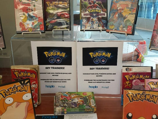 Pokemon display greets players at the Nashville Public
