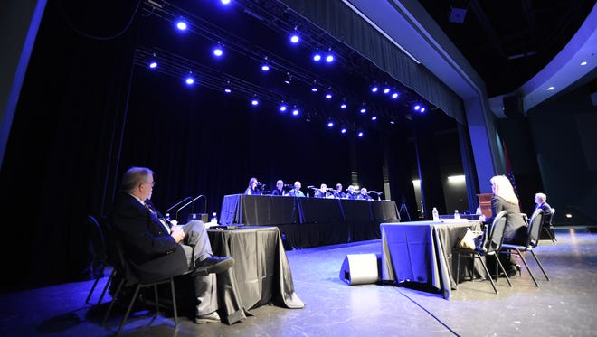 The Arkansas Supreme Court appeared at The Sheid on the Arkansas State University Mountain Home campus Thursday. Members of the court heard oral arguments in Ray Hobbs, Director v. James Grubbs, CV-14-468. Hundreds of area students attended the event.