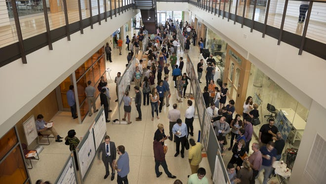 Students and faculty at the 2015 RIT Undergraduate Research Symposium.